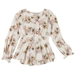 American Rag Womens Floral Button Placket Tunic