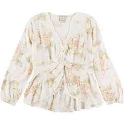American Rag Womens Floral Dainty Long Sleeve Shirt