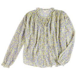 Cooper & Ella Womens Floral Long Sleeve Shirt