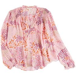 Cooper And Ella Womens Floral Printed Long Sleeve Shirt