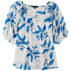 Harve Benard Womens Sweetheart Neck Short Sleeve Top