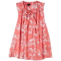 Harve Benard Women's Floral Tie Neck Sleeveless Top