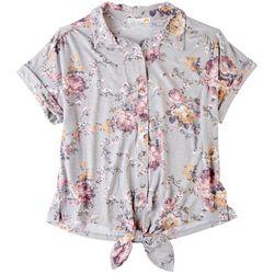 C&C California Womens Floral Buttoned Shirt
