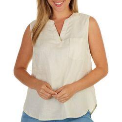 C & C California Womens Linen Popver Top