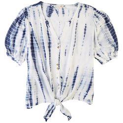 C&C California Womens Striped Short Sleeve Top