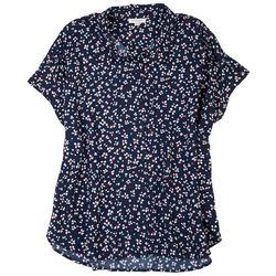 Beach Lunch Lounge Womens Floral Short Sleeve Shirt