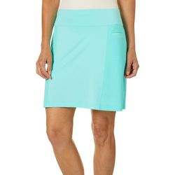 Coral Bay Energy Womens Textured Panel Pull On Skort