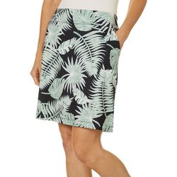 Coral Bay Energy Womens Tropical Palm Leaf Print Skort