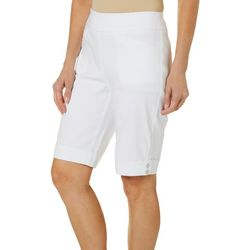 Womens Millennium Solid Button Hem Shorts