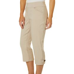 Coral Bay Womens Millennium Pull On Tab Detail Capris