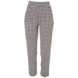 Notations Womens Gingham Print Ankle Pants
