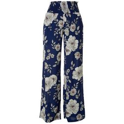 NY Collection Printed Smocked Waistband Pants