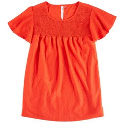 Notations Womens Smocked Neckline Top