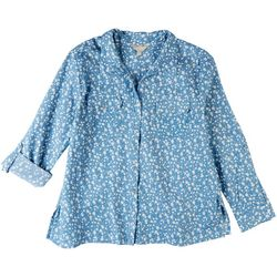 Coral Bay Womens Baby Breath Button Down Shirt