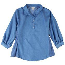 Coral Bay Womens Collared 3/4 Sleeves Shirt
