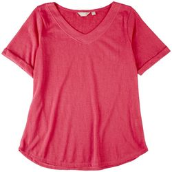 Coral Bay Womens Summer Colors V-Neck Top