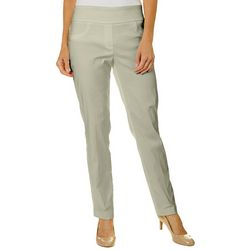Ruby Road Favorites Womens Solid Straight Leg Pull On Pants