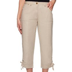 Ruby Road Favorites Womens Solid Tech Stretch Pull On Pants