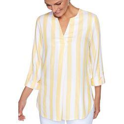 Ruby Road Favorites Womens Cabana Stripe Top