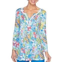 Ruby Road Womens Resort Brights Floral Top