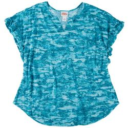 Ruby Road Womens Burnout Sublima Short Sleeve Top