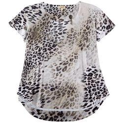 OneWorld Womens Cheetah Print Top