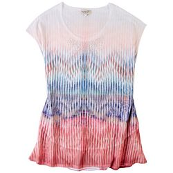 OneWorld Womens Fading Flowers Top