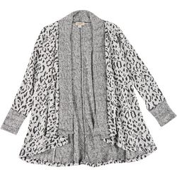 OneWorld Womens Leopard Cozy Cardigan