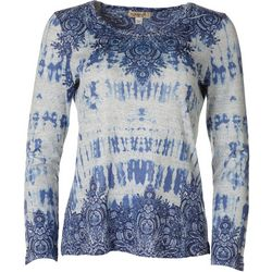 OneWorld Womens Paisley Scoop Neck Top