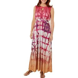 OneWorld Womens Jeweled Dream Tie Dye Dress