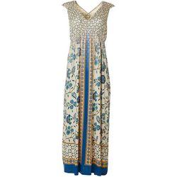 OneWorld Womens Mixed Print Sleeveless Dress
