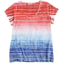 OneWorld Womens Americana Stripes Top