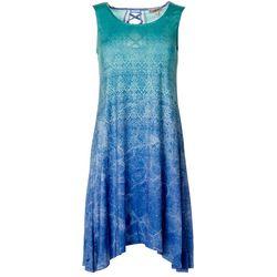 Womens Gelactic Print Sleeveless Dress