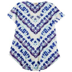 OneWorld Womens Tye Dye Short Sleeve Top