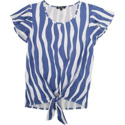 Tint & Shadow Womens Vertical Stripe Top
