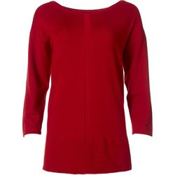 Tint & Shadow Womens Ribbed Hem Solid Sweater