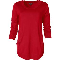 Tint & Shadow Womens Relaxed Solid Sweater