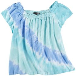 Tint & Shadow Womens Off The Shoulder Tie-Dye Top