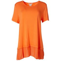 Multiples Womens Solid Relaxed Lengthy Shirt