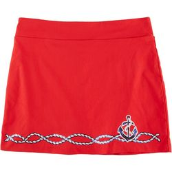 Coral Bay Womens Anchor Sequin Skort