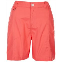 Fresh Womens Solid Cargo Style Shorts
