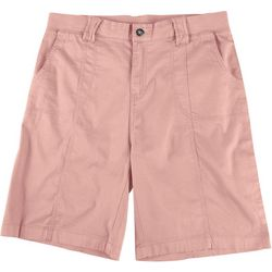 Fresh Womens Solid Ribbed Bermuda Shorts