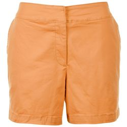 Sugar Magnolia Womens Shorts Solid Shorts With Clasp