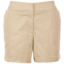 Sugar Magnolia Womens Shorts Solid Shorts With Clasp