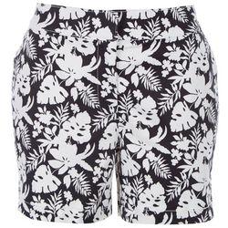 ReCREATION Womens B&W Flowers Shorts