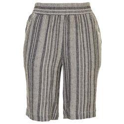 Briggs Womens Striped Linen Shorts