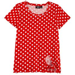 Onque Casual Womens Polka Dot Vintage Top
