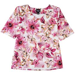 Onque Casual Womens Short Sleeve Floral Print Design