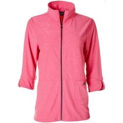 Womens Textured Turtleneck Jacket