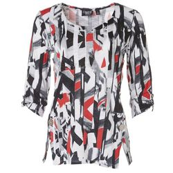 Onque Womens Textured Side Button Top